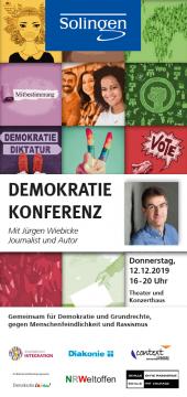 Solinger Demokratiekonferenz 2019 mit Jürgen Wiebicke @ Theater und Konzerthaus