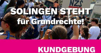SOLINGEN STEHT für Grundrechte! Kundgebung 30.08.19 Neumarkt