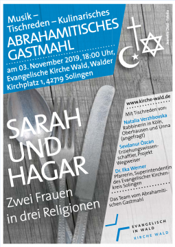 Abrahimitisches Gastmahl – Musik, Tischreden, Kulinarisches @ Evangelische Kirche Wald