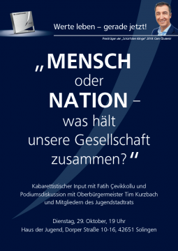 """""""MENSCH oder NATION - was hält unsere Gesellschaft zusammen?"""" @ Haus der Jugend"""