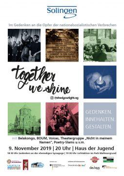 """""""Together we shine"""" - Jugendveranstaltung zum 9. November @ Haus der Jugend"""