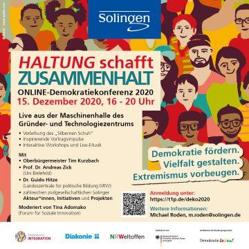 HALTUNG schafft ZUSAMMENHALT – Online-Demokratiekonferenz 2020 @ Online