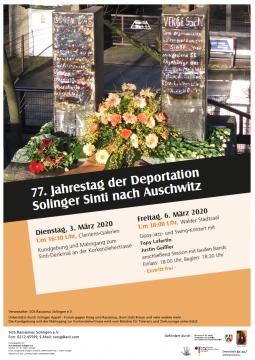 77. Jahrestag der Deportation Solinger Sinti nach Auschwitz @ Clemens Galerien