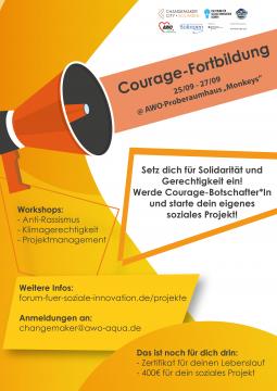 """Fortbildung zur """"Courage-Botschafter*in"""" @ Monkeys - AWO Proberaumhaus"""