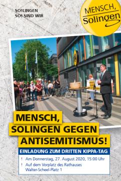 Kippa-Tag: Mensch, Solingen gegen Antisemitismus! @ Auf dem Vorplatz des Rathauses
