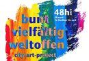 """""""Dein Gesicht für Demokratie"""" Banner-Aktion-Projekt zum """"48 h"""" Kultur-Event"""