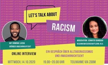 Ein Gespräch über Alltagsrassismus und #wasihrnichtseht @ Online Zoom