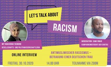 Antimuslimischer Rassismus – Befragung einer deutschen Frau @ Online Zoom
