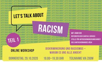 Diskriminierung und Rassismus – warum es uns alle angeht @ Online Zoom