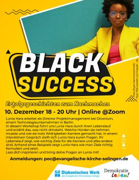 BLACK SUCCESS – Online-Workshop mit Lunia Hara @ Online Zoom