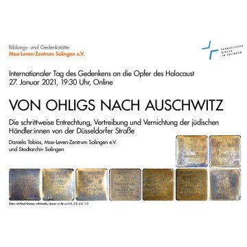 Von Ohligs nach Auschwitz – ONLINE-Gedenkveranstaltung @ Online Zoom
