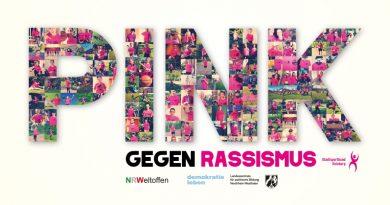 """Farbe bekennen mit der Aktion """"Pink gegen Rassismus"""""""